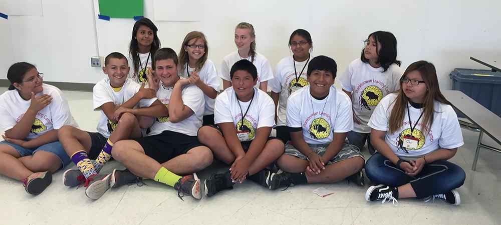Teenagers group photo